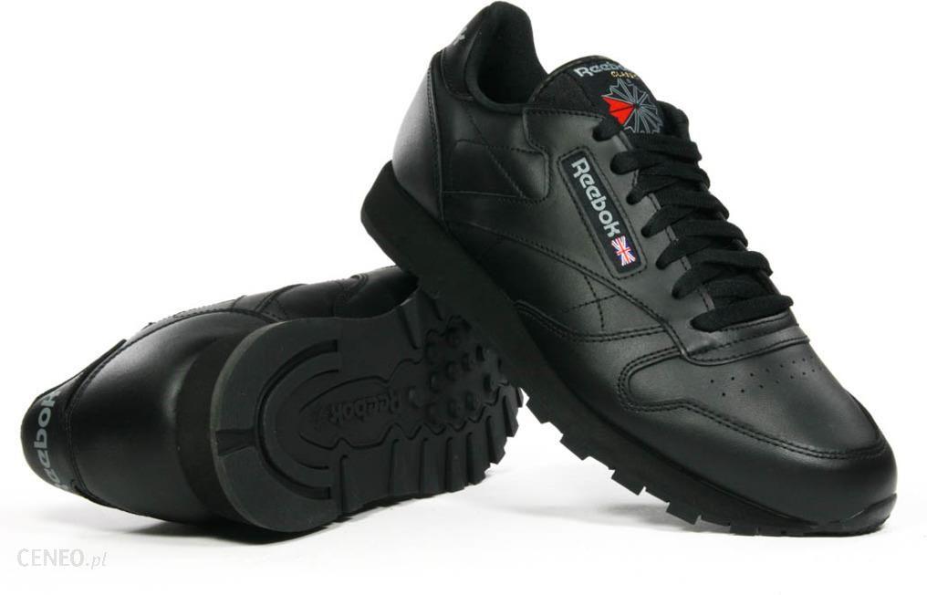 Buty sportowe damskie, Reebok, czarne, skóra naturalna