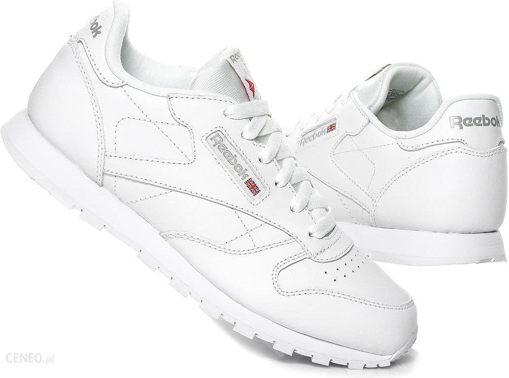 Białe obuwie męskie Reebok Classic, na sznurówki, Reebok