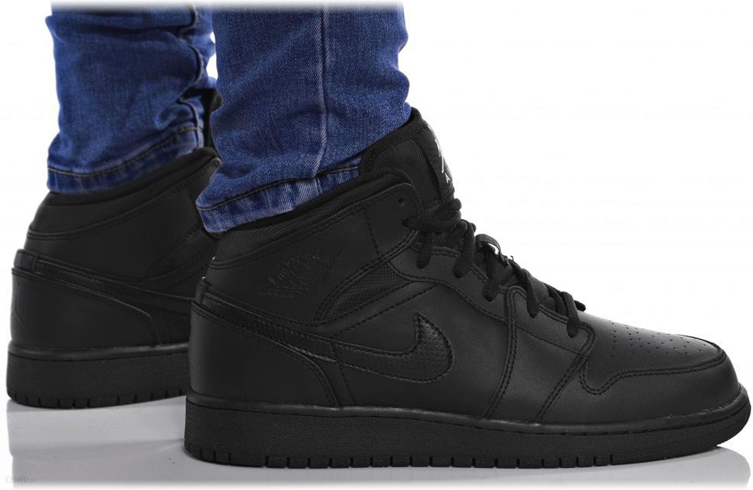 finest selection a8f97 11adc Buty Nike Air Jordan 1 MID Bg Damskie 554725-044 - Ceny i opinie ...