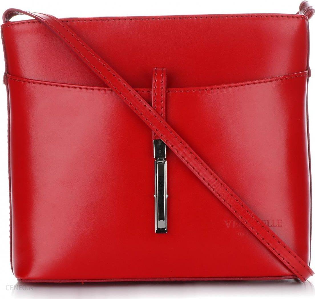 3f0d6b759f1e2 Włoskie Torebki Skórzane Listonoszki firmy Vera Pelle wykonane z solidnej  Skóry Licowej Czerwona (kolory)