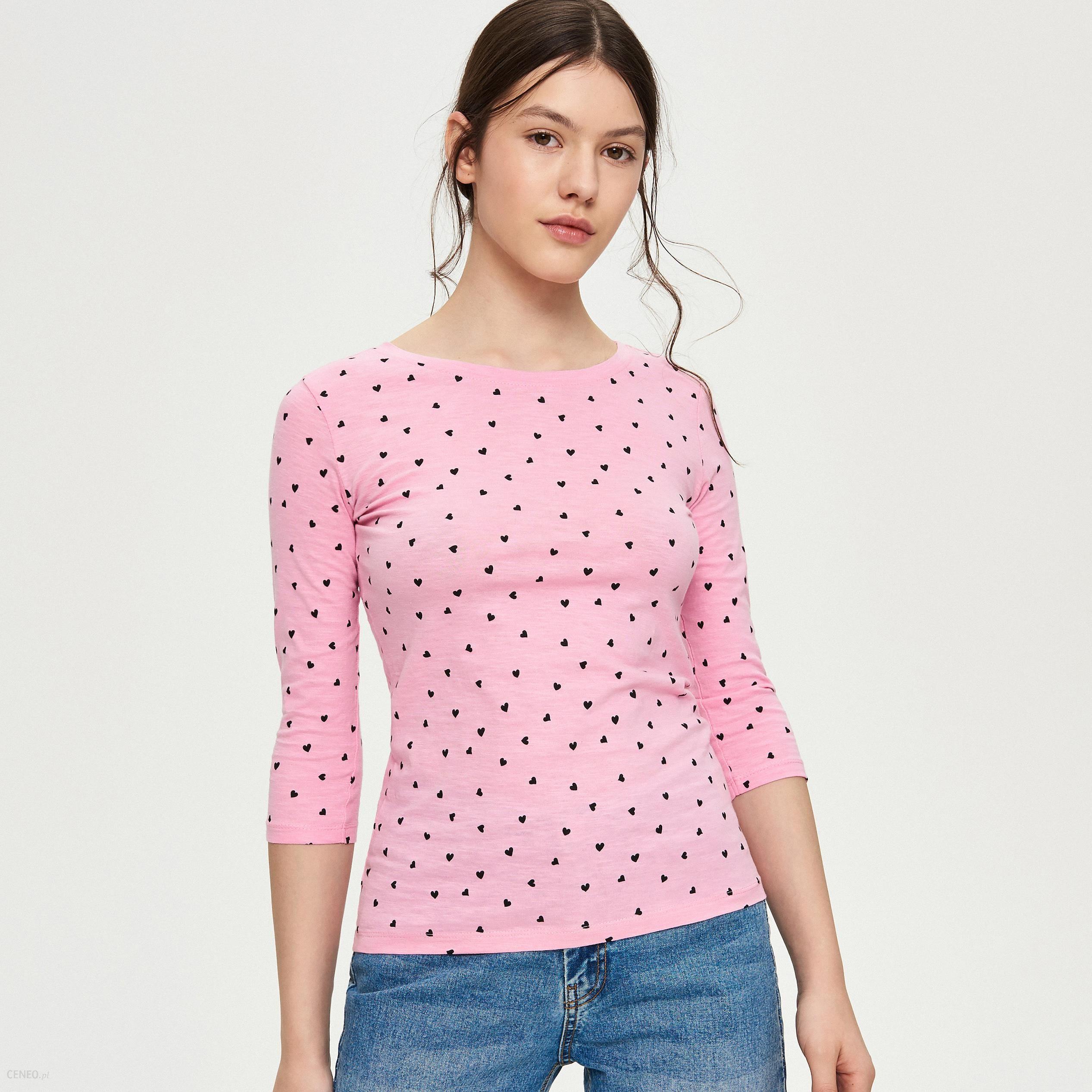 a6546dd4e6 Sinsay - Dopasowana bluzka - Różowy - Ceny i opinie - Ceneo.pl