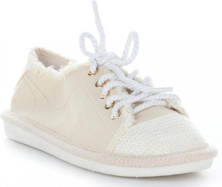 599335c66b863 Podobne produkty do CONVERSE Chuck Taylor All Star High Line - Białe  Skórzane Trampki Damskie - 551576C. Ideal Shoes Modne Tenisówki Damskie  Beżowe ...