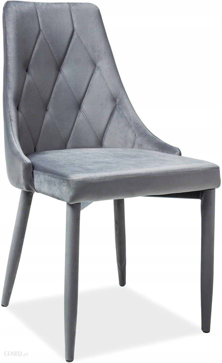 Signal Krzesło Trix Velvet Szary