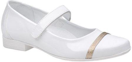 008acb35410f10 Balerinki buty komunijne KORNECKI 6100 Białe Lakierki - Ceny i ...