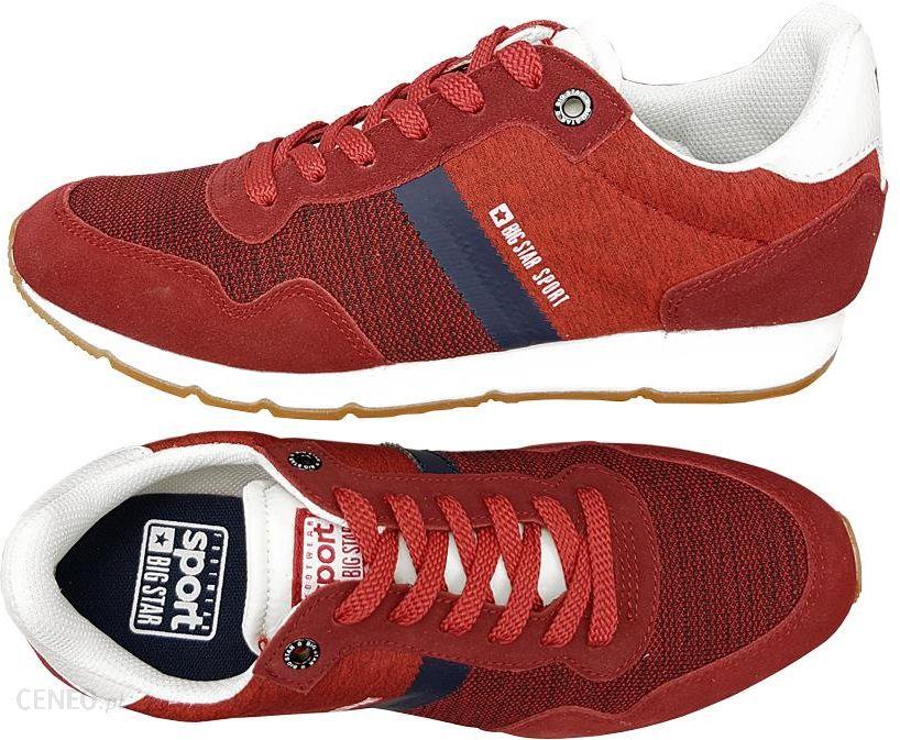 Big Star buty męskie czerwone AA174355 sneakersy