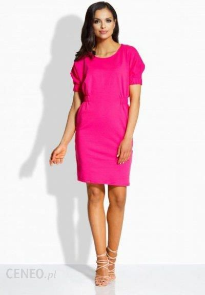 e185915681 L206 sukienka z gumkami fuksja lemoniade - Ceny i opinie - Ceneo.pl