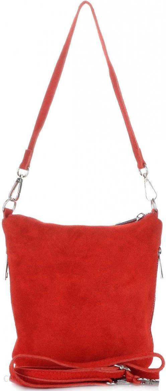 d6ec778739677 Uniwersalne Torebki Listonoszki Skórzane firmy Genuine Leather Czerwona -  zdjęcie 1