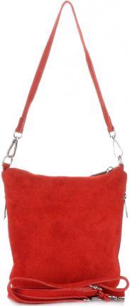 8d0a0ba85b4a2 Uniwersalne Torebki Listonoszki Skórzane firmy Genuine Leather Czerwona ...