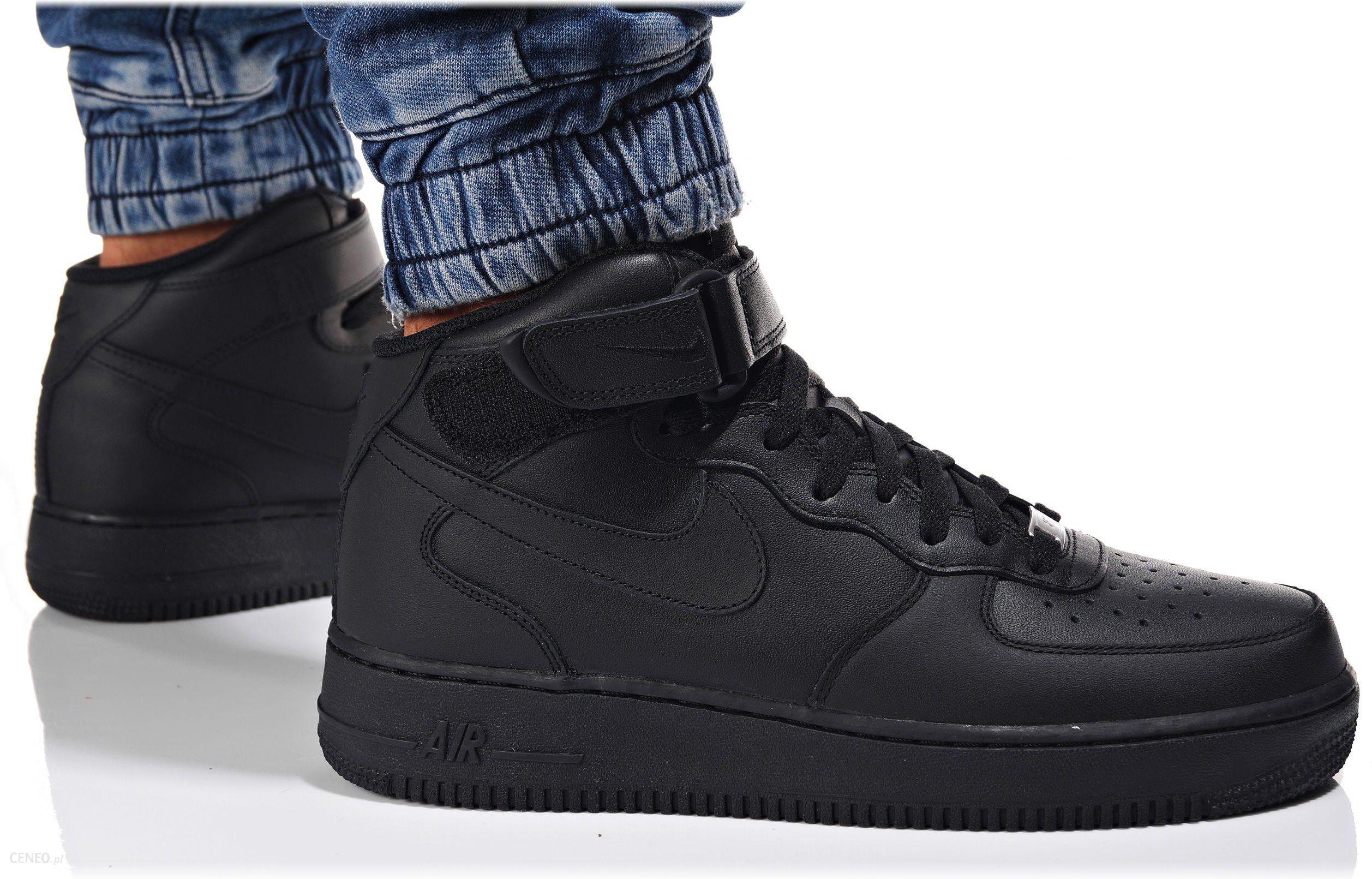 Buty Nike Męskie Air Force 1 MID 315123 001 Czarne Ceny i opinie Ceneo.pl