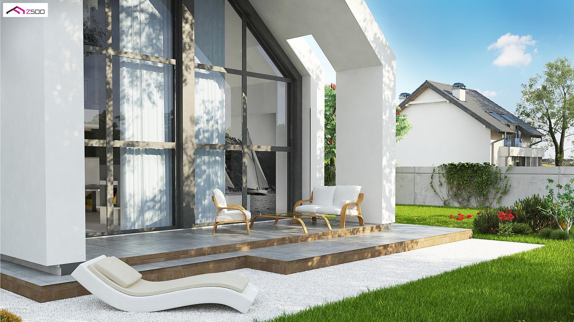 Projekt Domu Z215 A Nowoczesny Dom Typu Stodoła Z Dachem 2 Spadowym