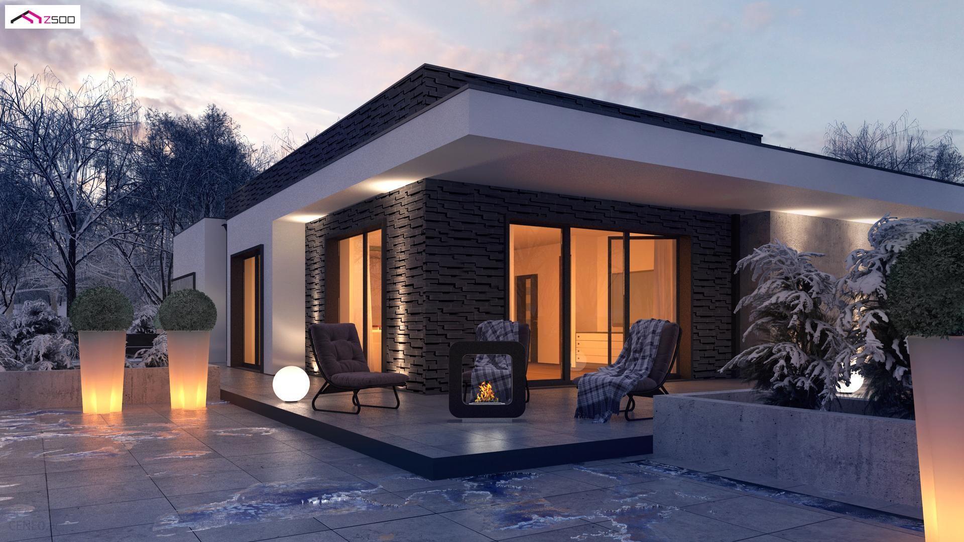 Projekt domu Zx96 Nowoczesny dom parterowy z odwróconym układem pomieszczeń  oraz garażem. - Opinie i ceny na Ceneo.pl