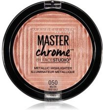Maybelline Master Chrome Metallic Highlighter rozświetlacz w kamieniu 050 Molten Rose Gold 6,7g