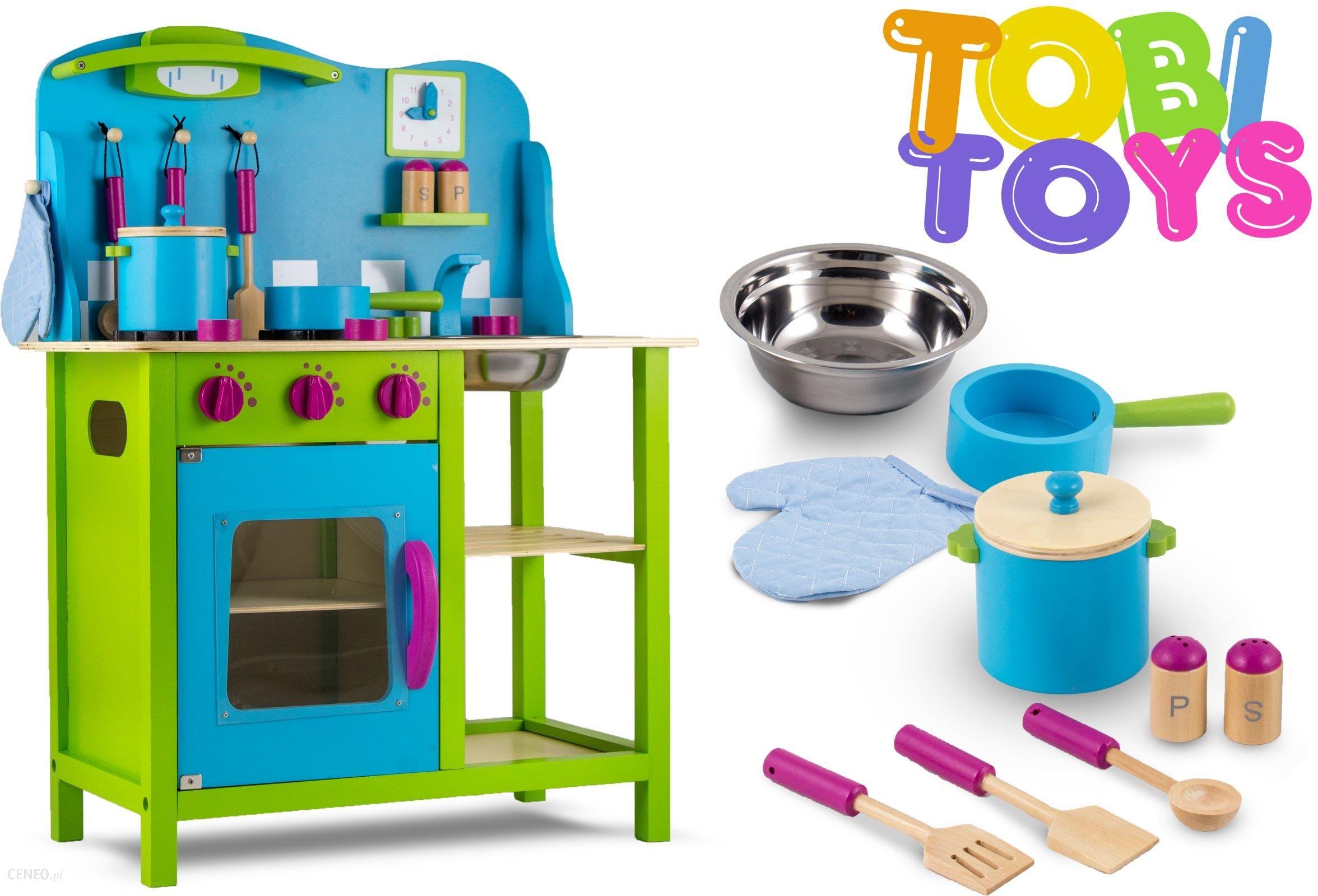 Zabawka Tobi Toys Kuchenka Drewniana Zielona W04 Ceny I Opinie Ceneopl