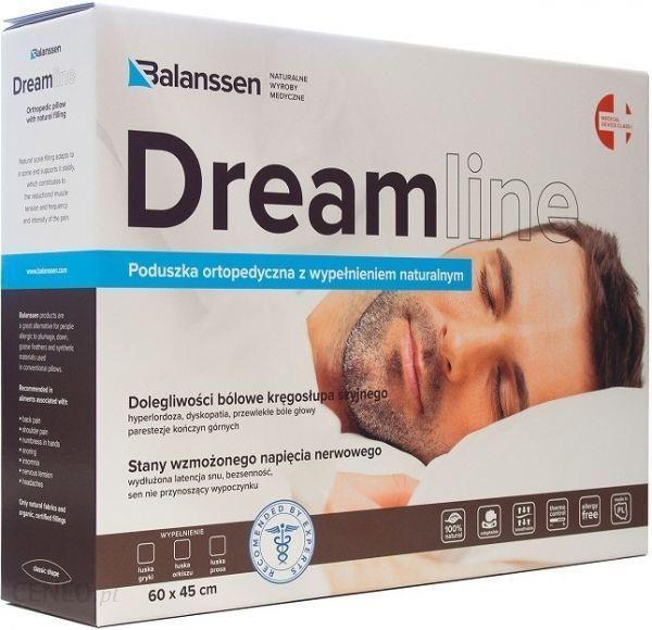 Balanssen Dreamline Poduszka Ortopedyczna Z Wypełnieniem Naturalnym łuski Orkiszu 60x45cm