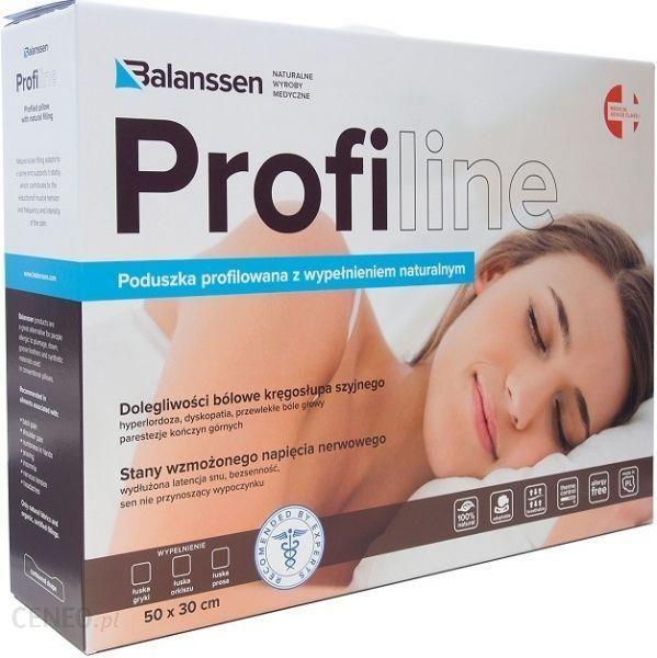 Balanssen Profiline Profilowana Poduszka Ortopedyczna Z Wypełnieniem Naturalnym łuski Gryki 50x30cm