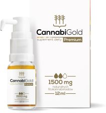 CannabiGold Premium Olej CBD 1500mg 12ml