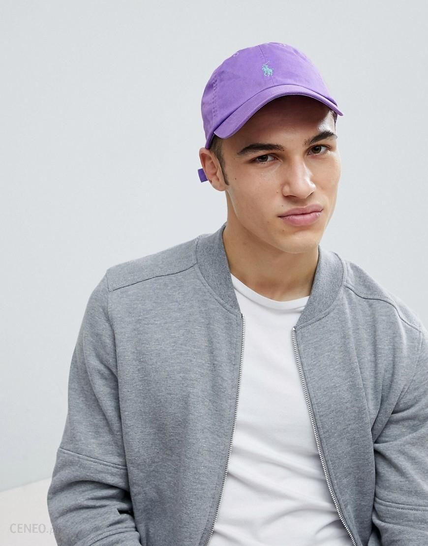 2265cb1d6 Polo Ralph Lauren Player Logo Cotton Baseball Cap in Purple - White -  zdjęcie 1