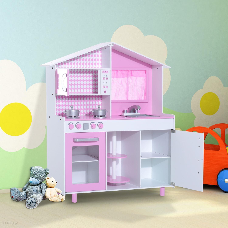 Zabawka Homcom Kuchnia Dla Dzieci Różowa Ceny I Opinie Ceneopl