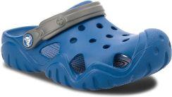 Klapki CROCS Swiftwater Clog K 202607 Blue JeanSlate Grey