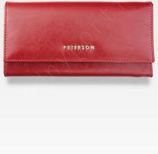 124d756ed2fdd Portfel Damski Skórzany PETERSON Duży Czerwony Pojemny 410 - Ceny i ...