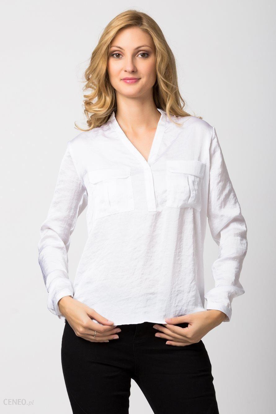 090b61acc189b3 Elegancka koszulowa bluzka damska - Sublevel - biały - Ceny i opinie ...