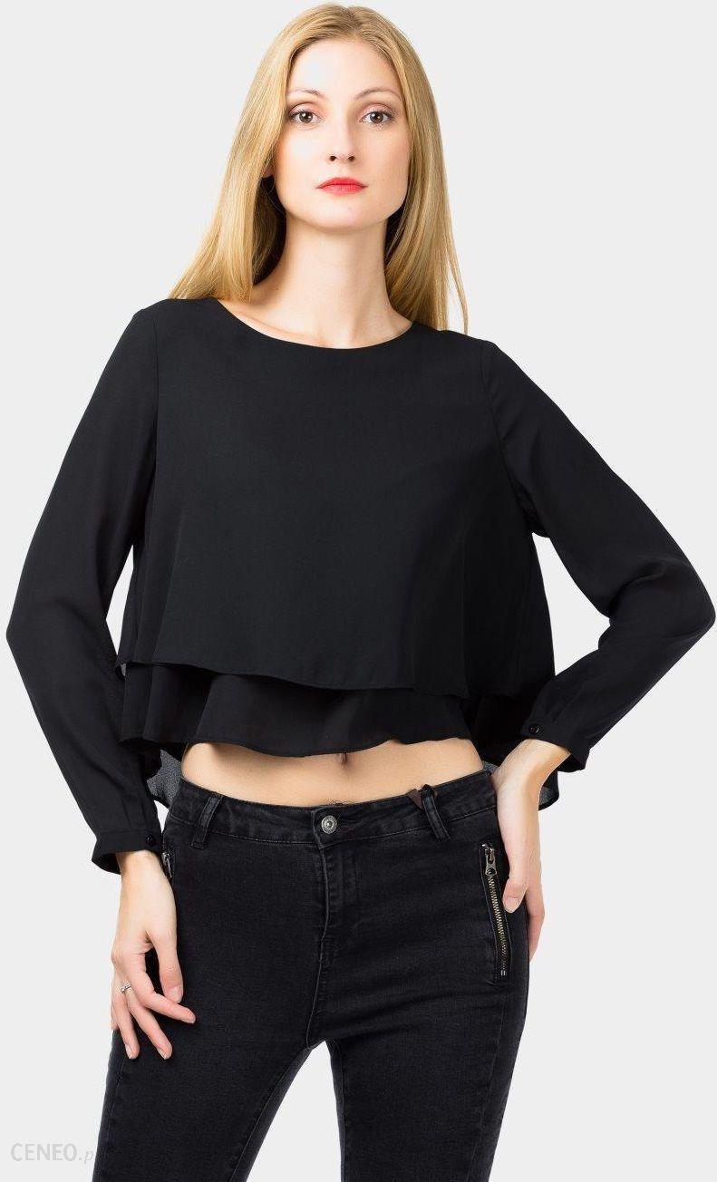 b165561f137888 Krótka bluzka z długim rękawem damska - Rock Angel - czarny - Ceny i ...