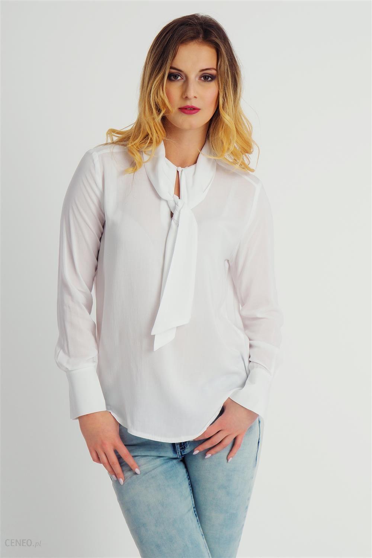 a4f932b49e Bluzka damska wiązana pod szyją elegancka biała Fresh Made - biały -  zdjęcie 1