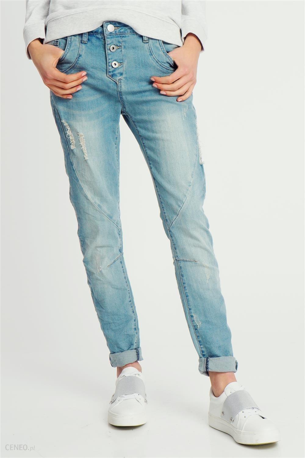 Spodnie jeansowe damskie z dziurami Boyfriend fit Sublevel