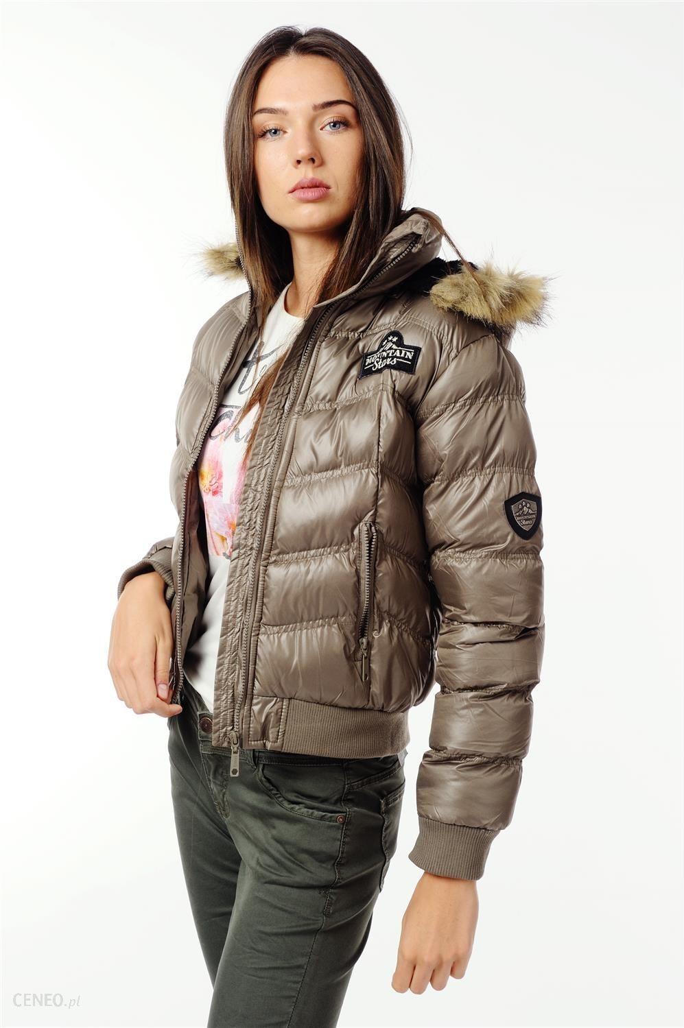 fa076fe53c3baa Krótka kurtka pikowana - Emoi by Emonite - ciemny beżowy - Ceny i ...