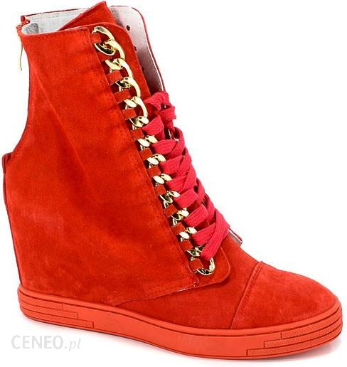 74bafbc1383e8 Sneakersy Booci 2222/066/z Czerwony/z - Ceny i opinie - Ceneo.pl