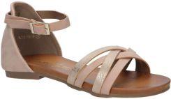 81ecfd23b1b9ba Różowe eleganckie sandały z zakrytą piętą Casu K18X9/P - Ceny i ...