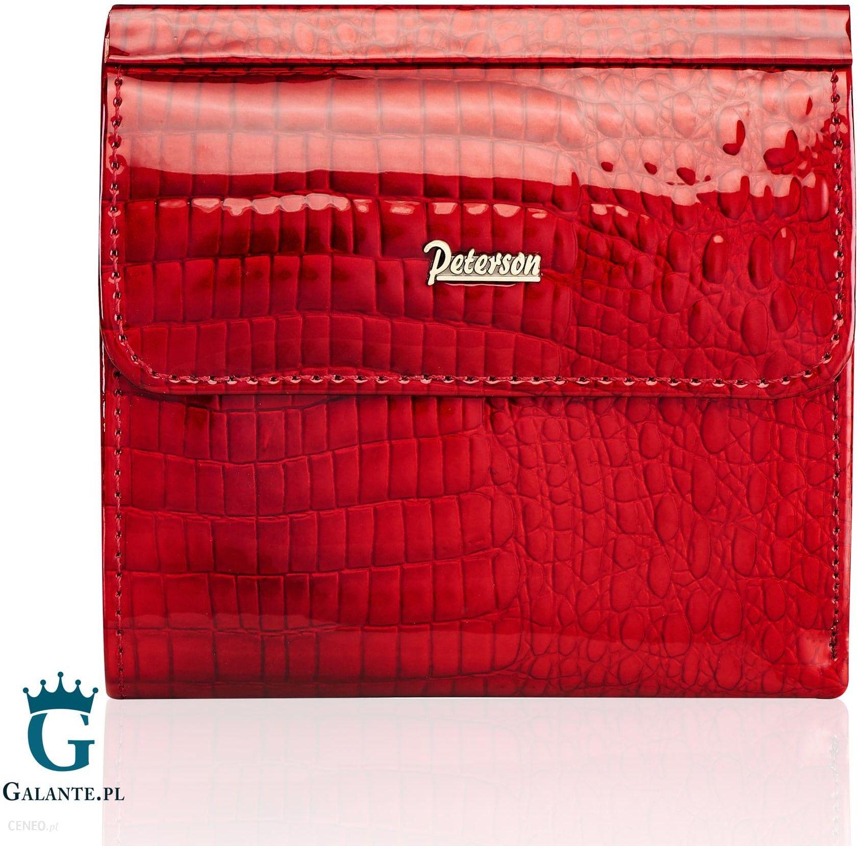 01b18d85f4742 Czerwony Portfel Damski Lakierowany Peterson AE209 Red - Ceny i ...