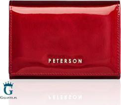 abf78c31dc7f4 Czerwony Portfel Damski Lakierowany Peterson BC445
