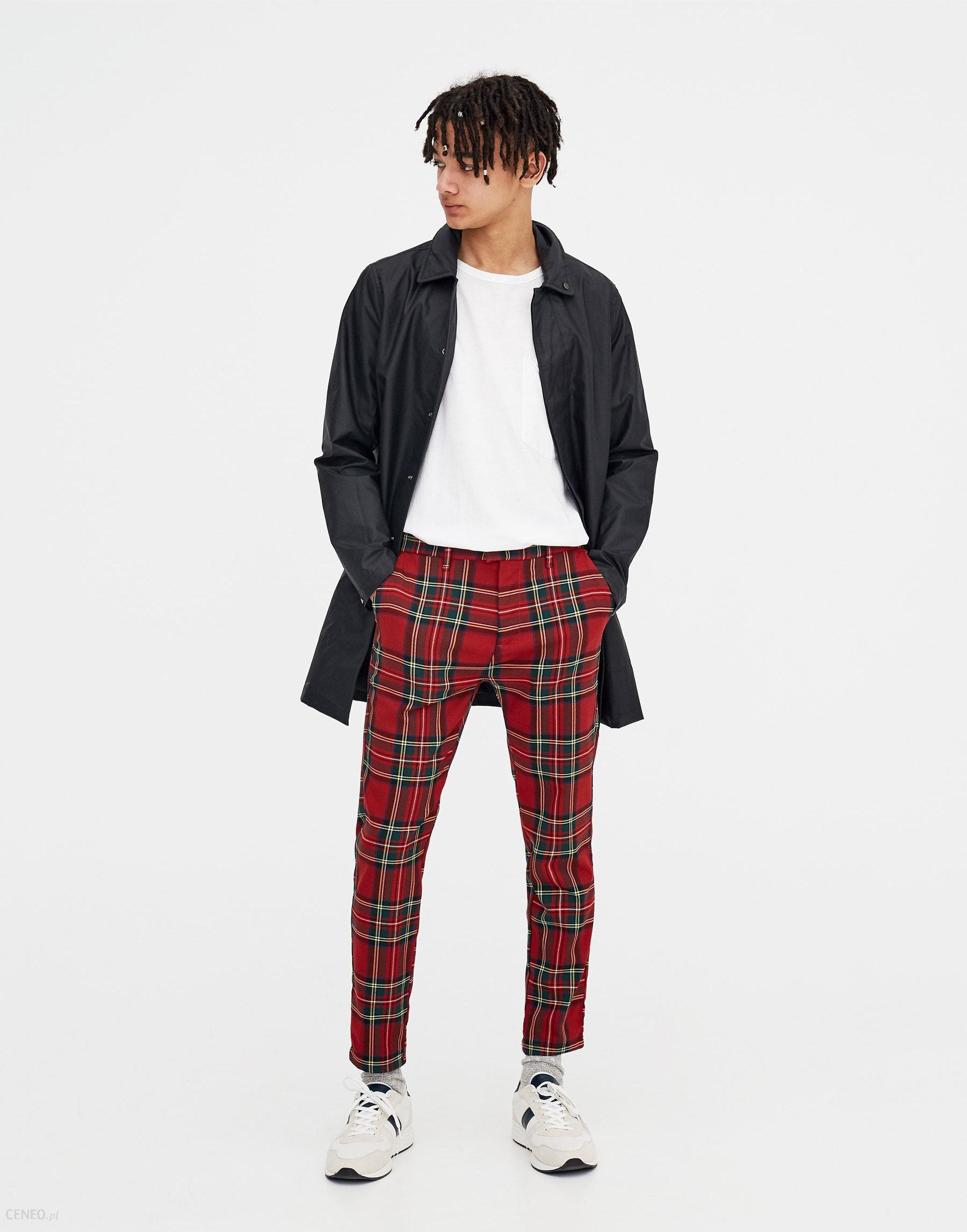 c925fea1eb05bc Pull & Bear Spodnie tailoring w szkocką kratę - Ceny i opinie - Ceneo.pl