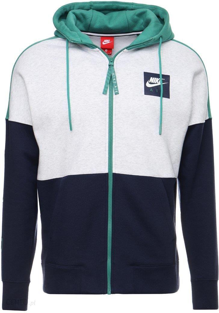 e47ca6450 Nike Sportswear AIR FULL ZIP HOODIE Bluza rozpinana birch heather/green  noise/obsidian/