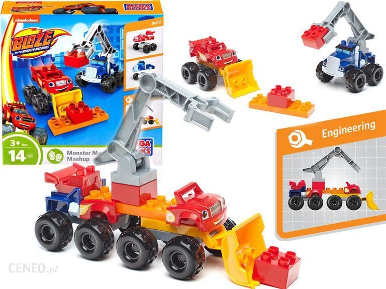 Fisher-Price Mega Bloks Blaze Mega Maszyny Auto + Crusher 2w1 DRX14