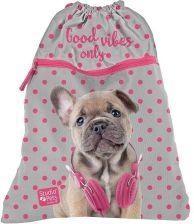 9570276544f3f Paso Studio Pets Piesek z Słuchawkami Różowymi Worek Szkolny Na Obuwie  Premium Satyna PES-713