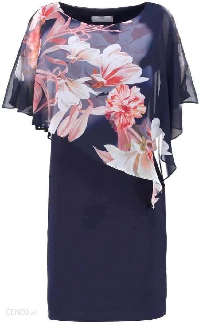 5003f4d565 Wallis Petite FLORAL OVERLAYER DRESS Sukienka koktajlowa navy - zdjęcie 1