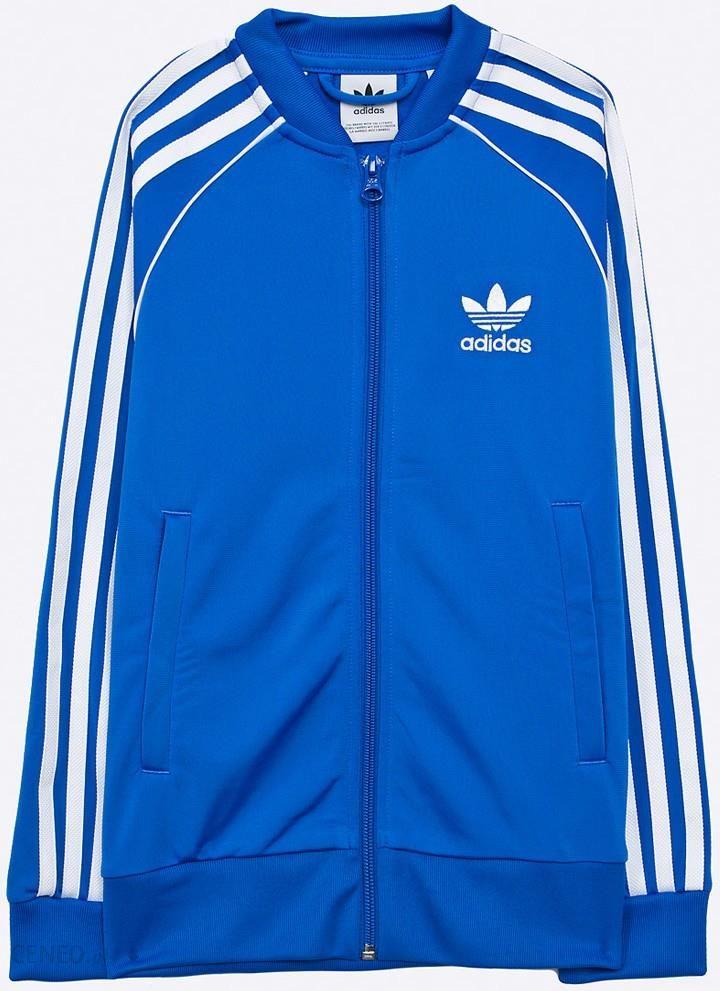 adidas Originals Bluza dziecięca 128 164 cm Bluzy rozpinane dziewczęce niebieskie w