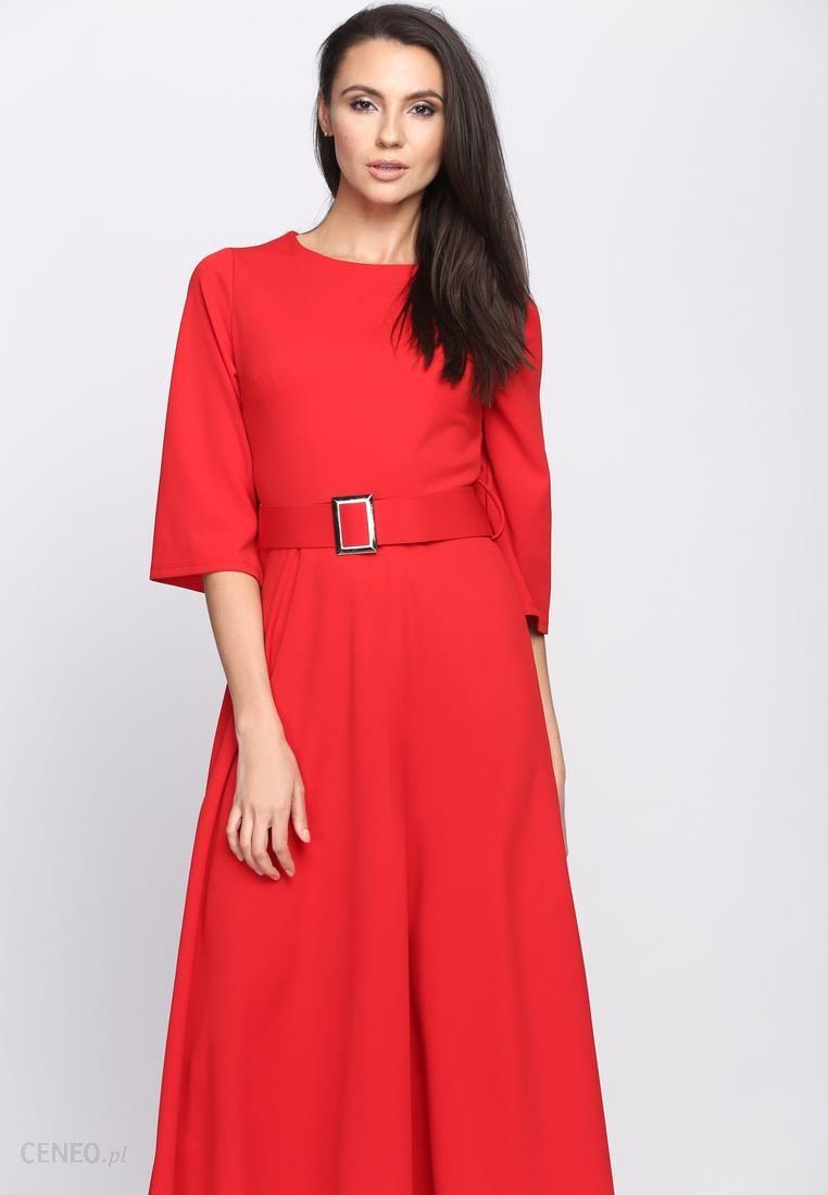 a01c77fb28 Czerwona Sukienka Any World - Ceny i opinie - Ceneo.pl