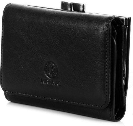 ab55d5aa2677a Skórzany portfel damski w pudełku KRENIG Classic 12009 czarny - Czarny