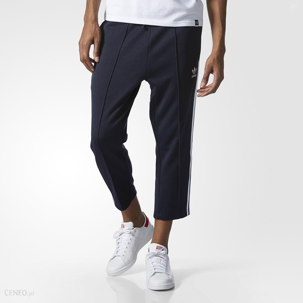 Czarny Spodnie Adidas Sst Relax Crop Męskie