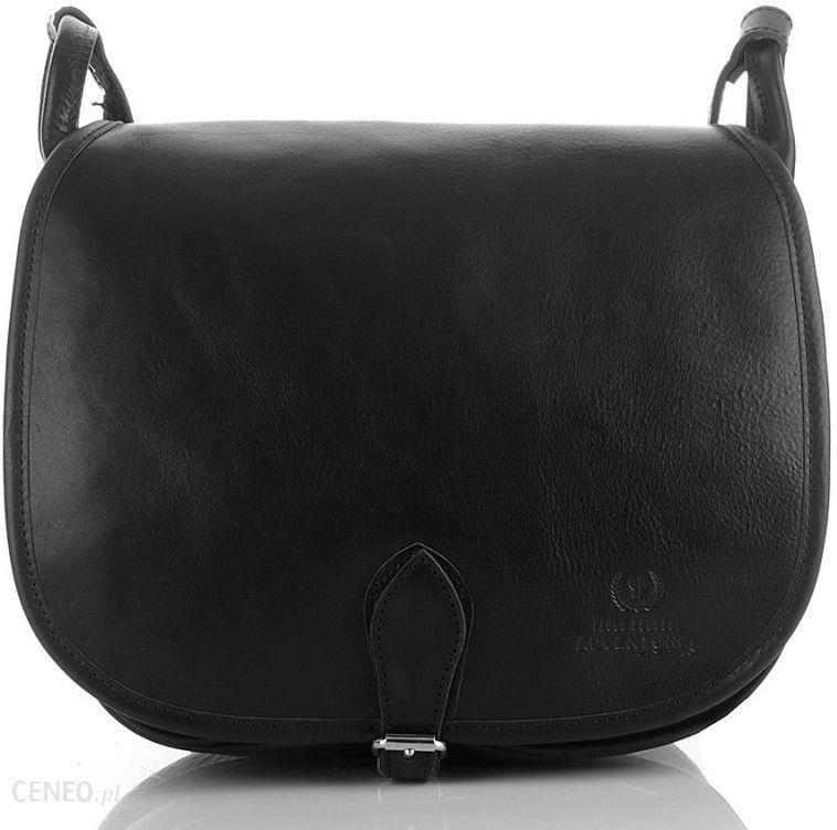 2ebd3918d8541 Duża torebka listonoszka z półokrągłą klapką czarna - czarny - zdjęcie 1
