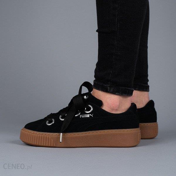 16627ea5 Buty damskie sneakersy Puma Platform Kiss Suede 366461 01 - CZARNY -  zdjęcie 1