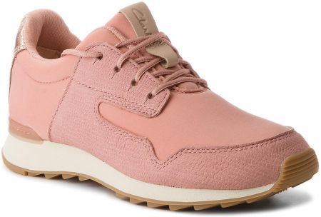 the latest bf7cf 8396e Sneakersy CLARKS - Floura Mix 261309644 Pink Combi eobuwie