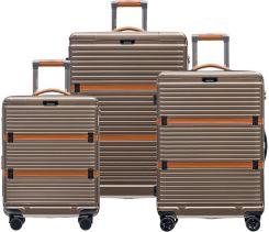 d31798b919cd5 Komplet walizek z poliwęglanu Puccini PC 005 - antracyt - Ceny i ...