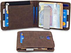 72a39652769ca Amazon travando® portfel z przegrodą na klamra do pieniędzy na monety RFID  portmonetka portfel etui