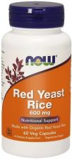 Now Foods Czerwone drożdże ryżu Red Yeast Rice 600mg 60 kaps