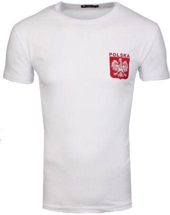 fd96aa1d2 Koszulka Patriotyczna T-Shirt Kibica z Godłem Polski od Neidio TS33 Biały -  BIAŁY