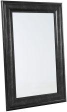 Beliani Lustro Czarne W Ramie Do łazienki Do Salonu 61x91 Cm Lunel
